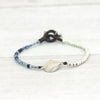 Surfer Style Navy and Shell Bracelet