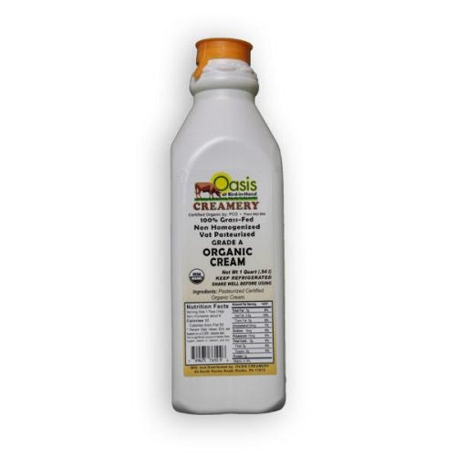 Organic Heavy Cream- 1 Quart