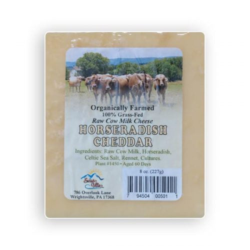 Raw cow's milk Horseradish Cheddar Cheese- 8 oz.