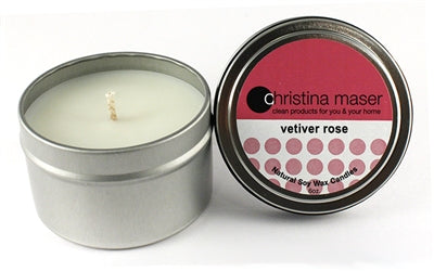 Vetiver Rose Soy Wax Candle