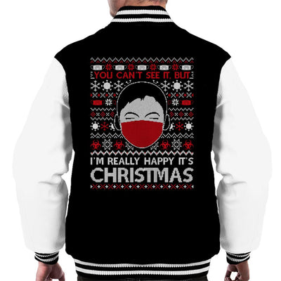 You Cant See It But Im Really Happy Its Christmas Men's Varsity Jacket - coto7