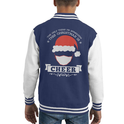 The Only Thing Im Spreading This Christmas Is Cheer Kid's Varsity Jacket - coto7