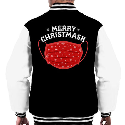 Merry Christmask Men's Varsity Jacket - coto7