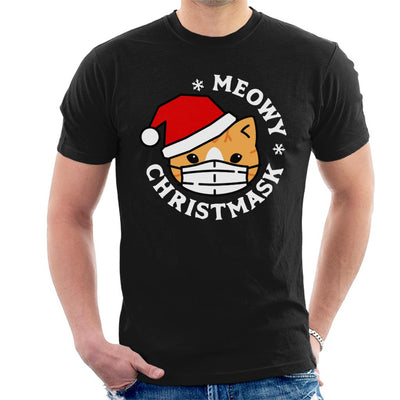 Meowy Christmask Men's T-Shirt - coto7