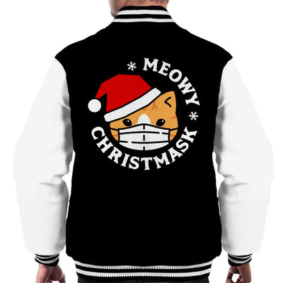 Meowy Christmask Men's Varsity Jacket - coto7