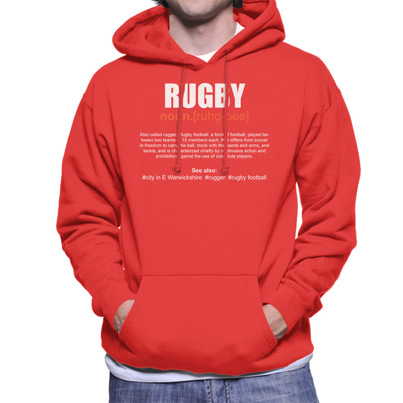 Rugby Definition Men's Hooded Sweatshirt - coto7
