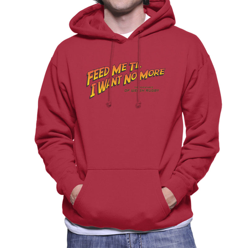 Indiana Jones Feed Me Welsh Rugby Men's Hooded Sweatshirt