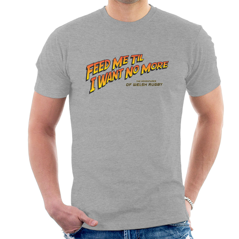 Indiana Jones Feed Me Welsh Rugby Men's T-Shirt - coto7