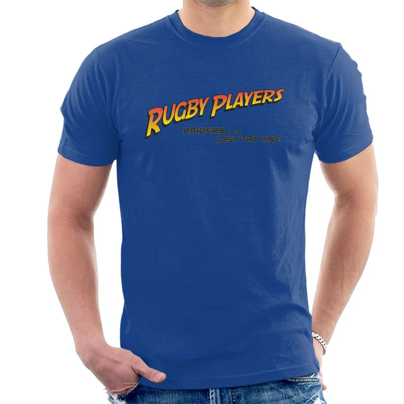 Indiana Jones Rugby Raiders Of The Lost Try Line Men's T-Shirt - coto7
