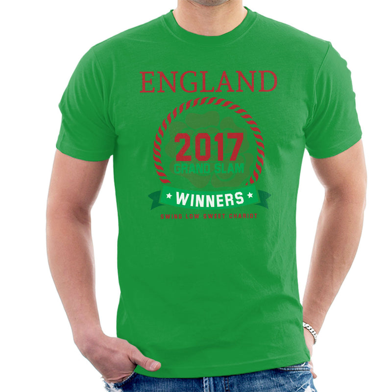 Rugby England 2017 Grand Slam Winners Men's T-Shirt - coto7