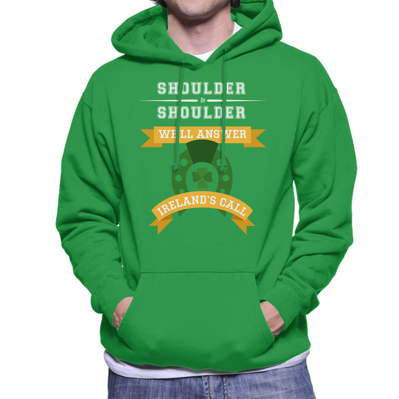 Rugby Irelands Call Orange Banners Men's Hooded Sweatshirt