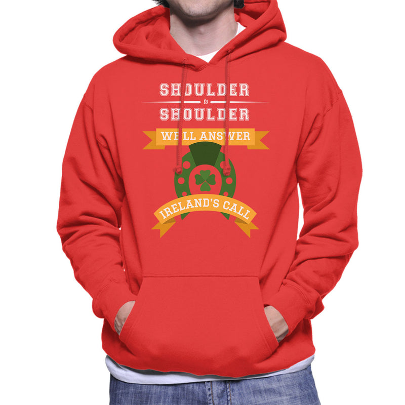 Rugby Irelands Call Orange Banners Men's Hooded Sweatshirt - coto7