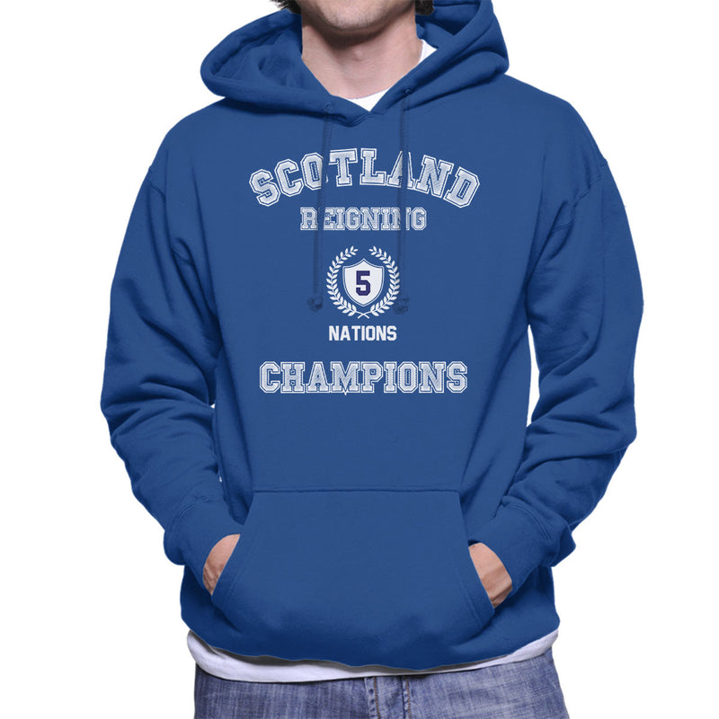Rugby Scotland Reigning 5 Nations Champions Men's Hooded Sweatshirt - coto7