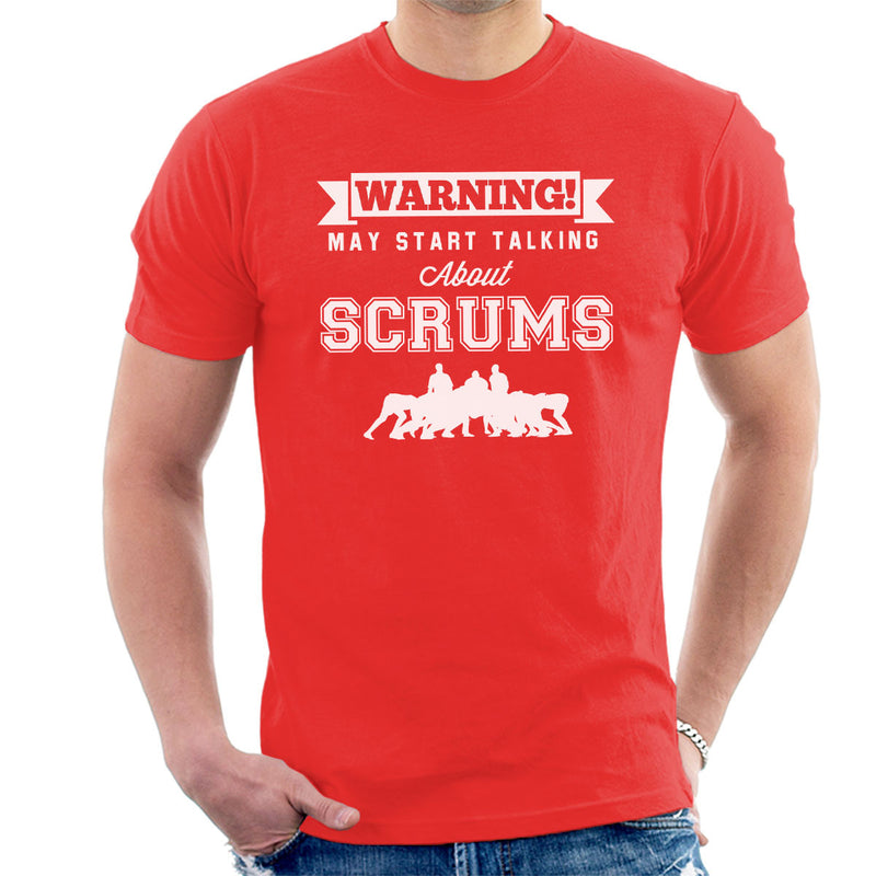 Rugby Warning May Start Talking About Scrums Men's T-Shirt - coto7