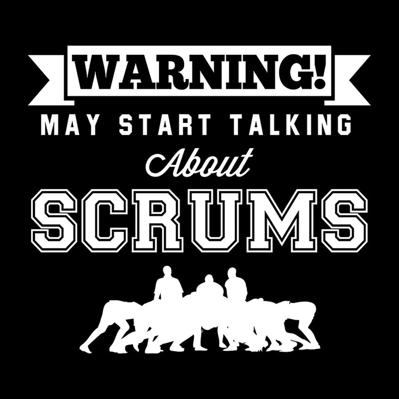 Rugby Warning May Start Talking About Scrums Men's Hooded Sweatshirt - coto7