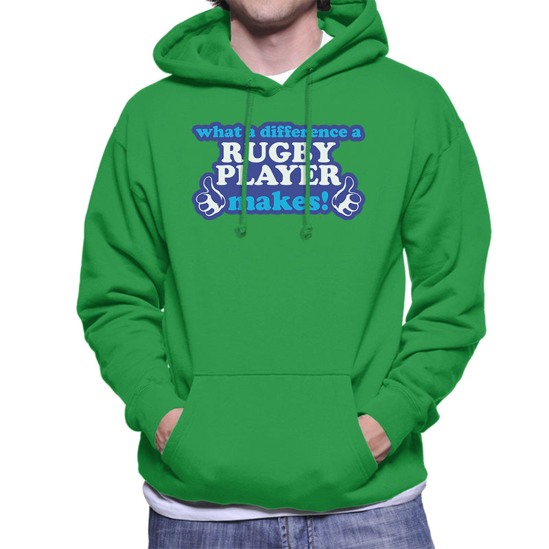 What A Difference A Rugby Player Makes Men's Hooded Sweatshirt - coto7
