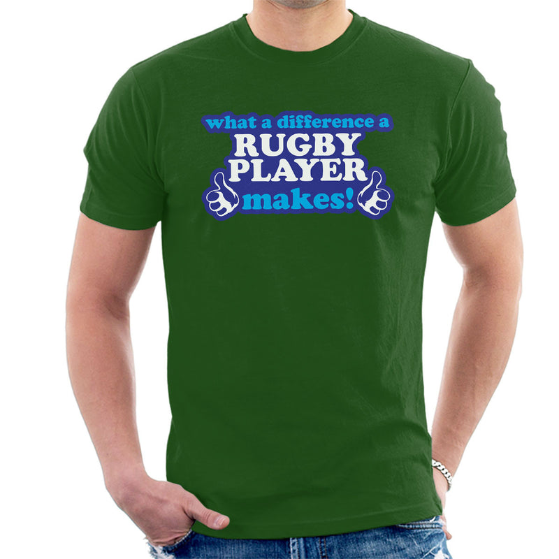 What A Difference A Rugby Player Makes Men's T-Shirt - coto7