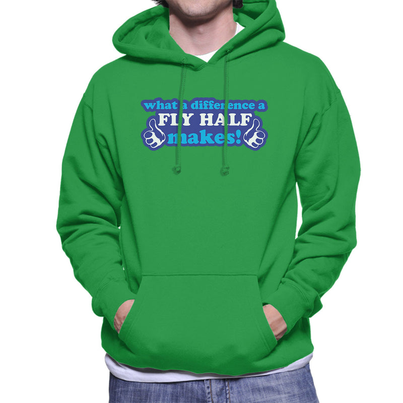 What A Difference A Fly Half Makes Men's Hooded Sweatshirt - coto7