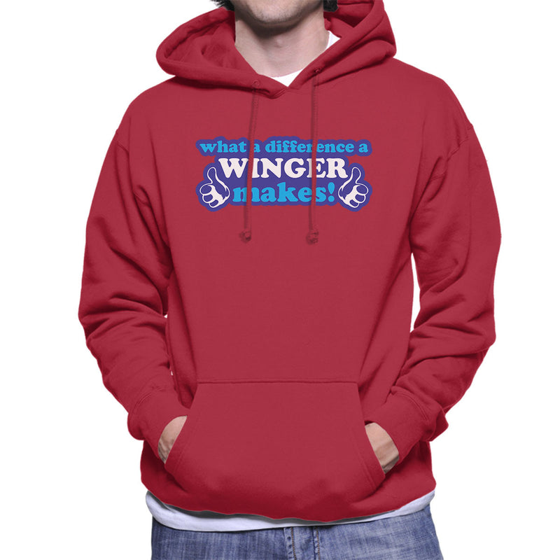 What A Difference A Winger Makes Men's Hooded Sweatshirt - coto7