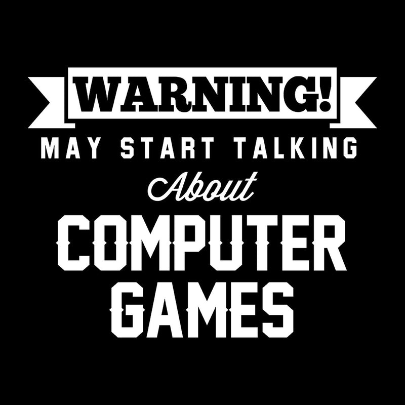 Warning May Start Talking About Computer Games Kid's Hooded Sweatshirt - coto7
