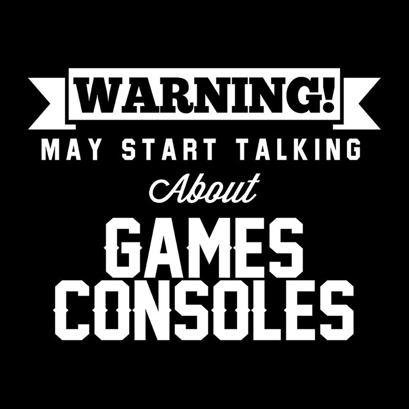 Warning May Start Talking About Games Consoles Men's Hooded Sweatshirt - coto7