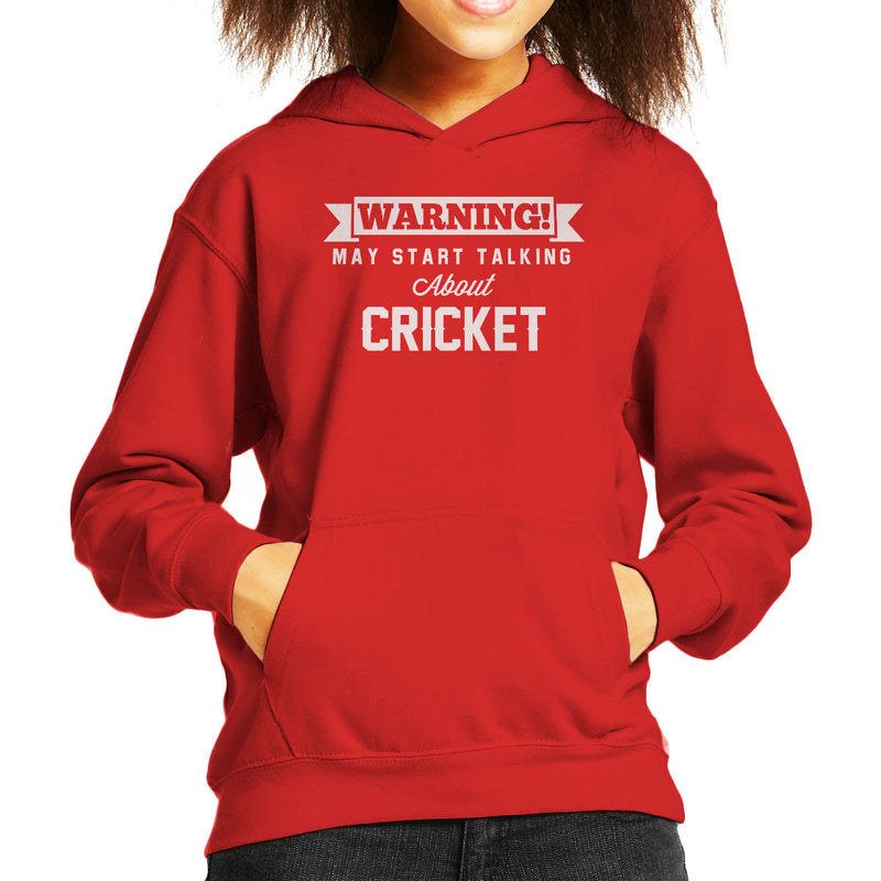 Warning May Start Talking About Cricket Kid's Hooded Sweatshirt - coto7