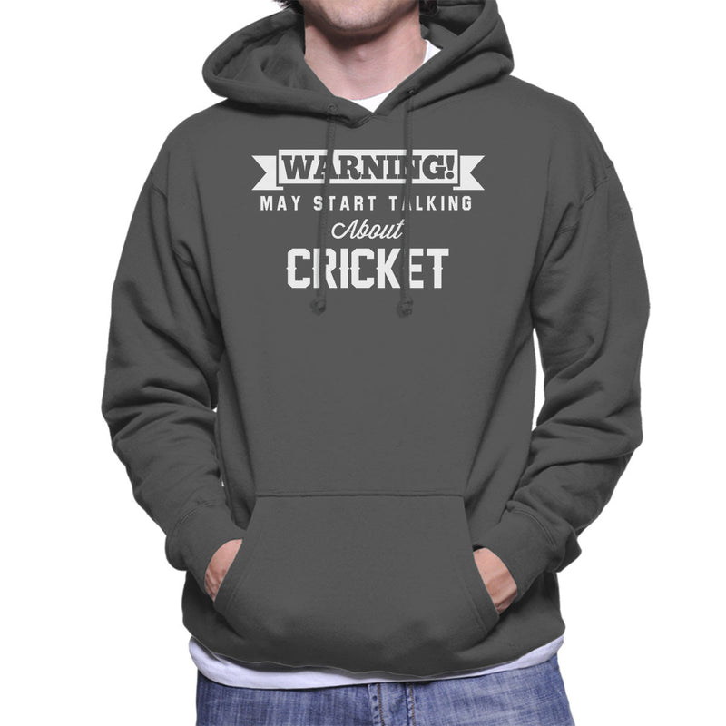 Warning May Start Talking About Cricket Men's Hooded Sweatshirt - coto7