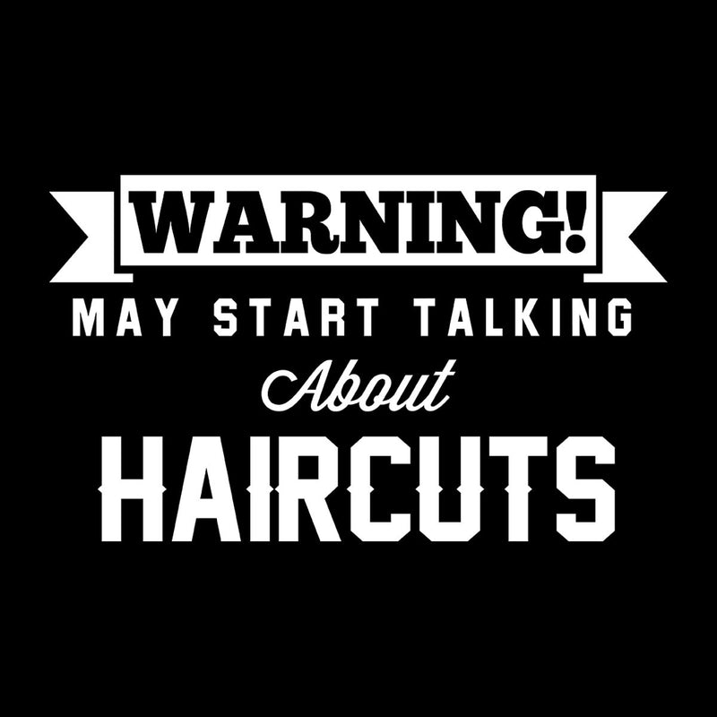 Warning May Start Talking About Haircuts Kid's Hooded Sweatshirt - coto7