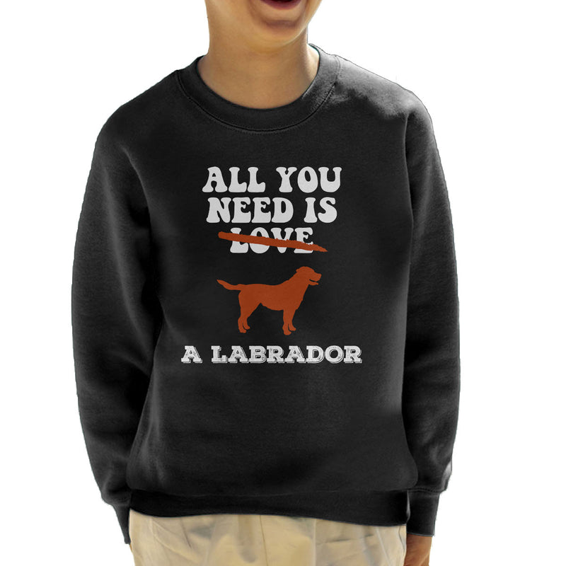 All You Need Is A Labrador Kid's Sweatshirt - coto7