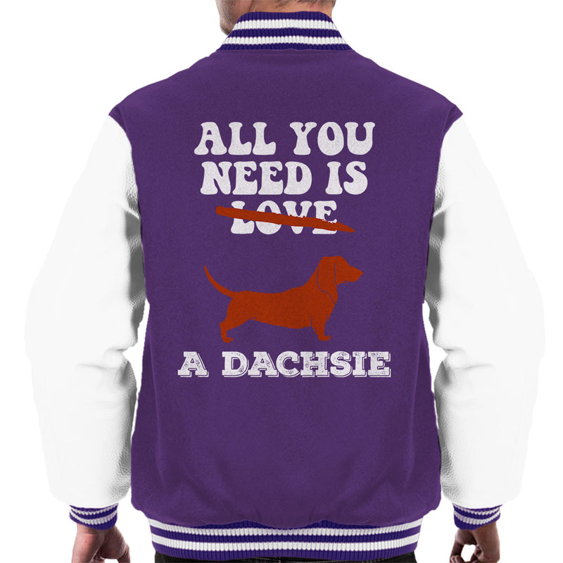 All You Need Is A Dachsie Men's Varsity Jacket - coto7
