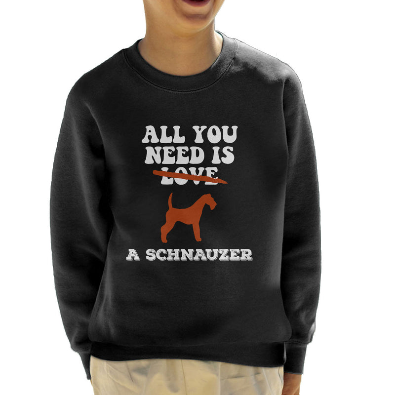 All You Need Is A Schnauzer Kid's Sweatshirt