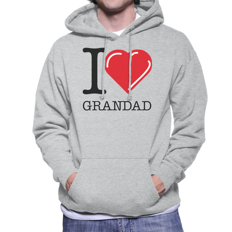 I Love Grandad Red Heart Men's Hooded Sweatshirt - coto7
