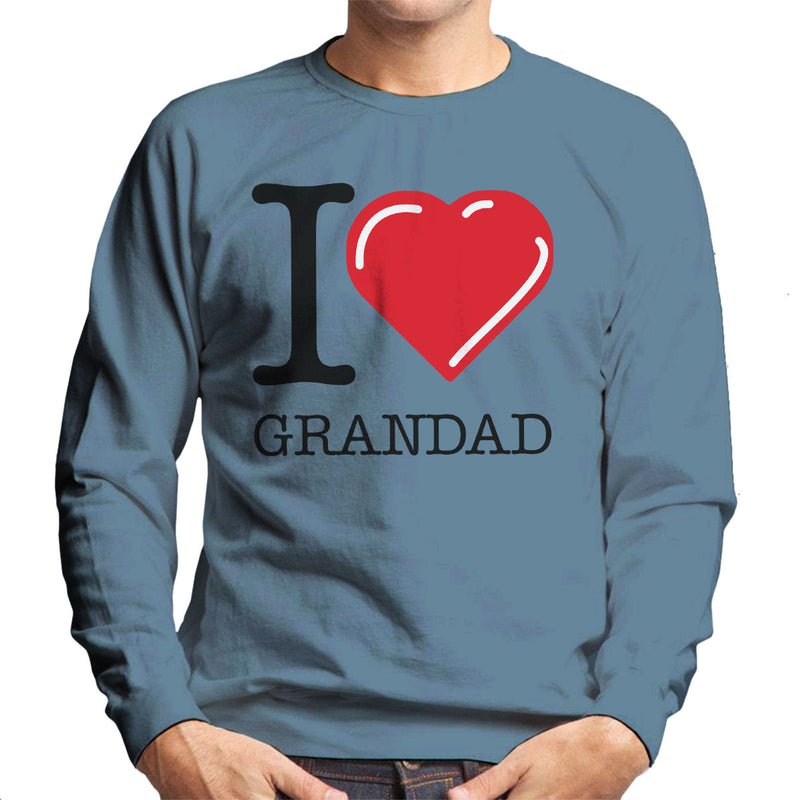 I Love Grandad Red Heart Men's Sweatshirt - coto7