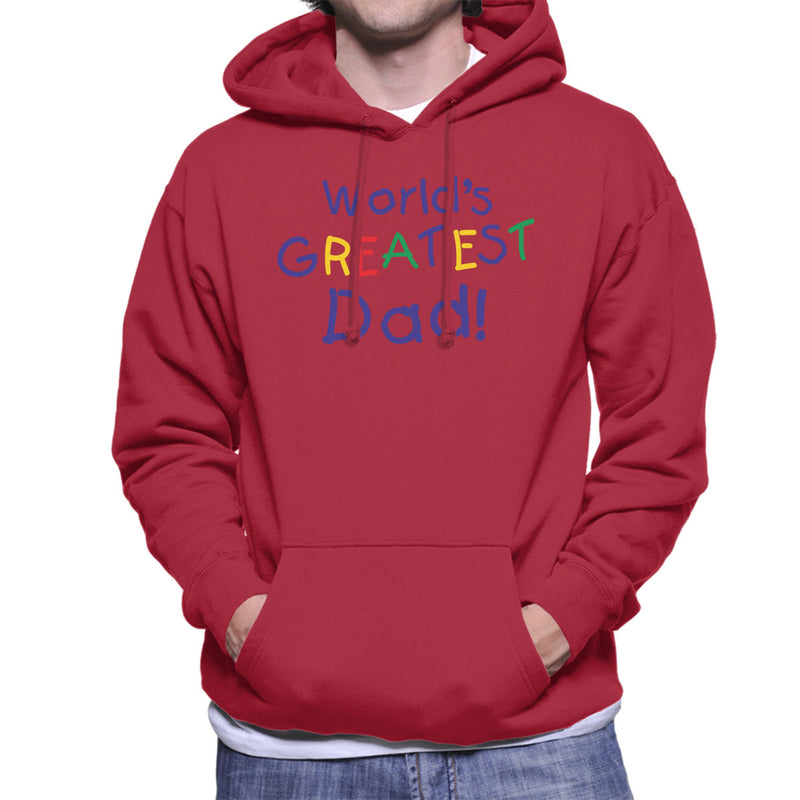 Kid Writing Worlds Greatest Dad Men's Hooded Sweatshirt - coto7
