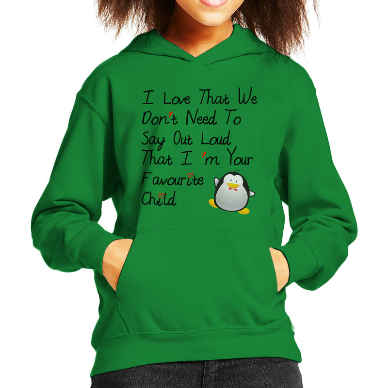 Im Your Favourite Child Kid's Hooded Sweatshirt - coto7