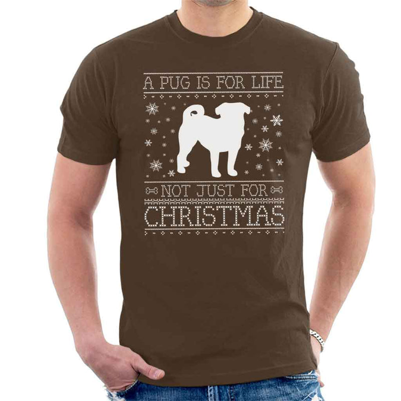 A Pug Is For Life Not Just For Christmas Men's T-Shirt - coto7