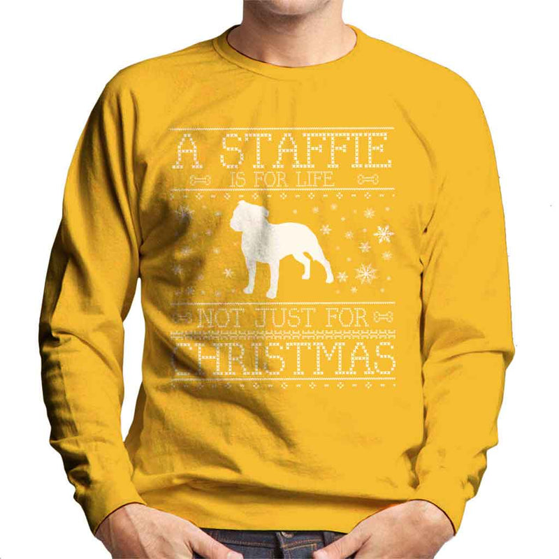 A Staffie Is For Life Not Just For Christmas Men's Sweatshirt - coto7