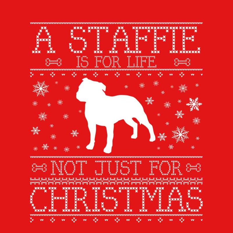 A Staffie Is For Life Not Just For Christmas Men's Vest - coto7