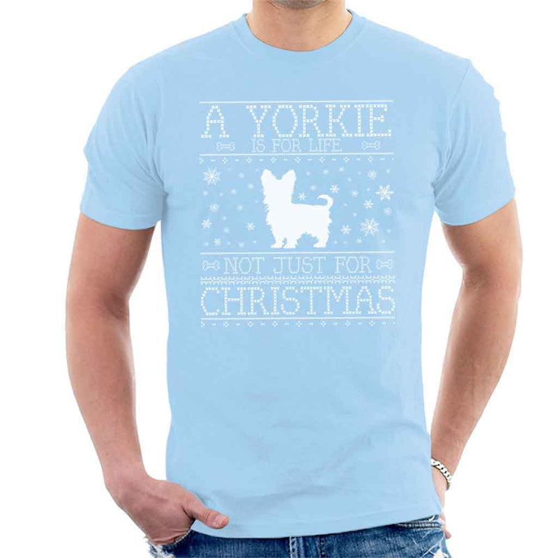 A Yorkie Is For Life Not Just For Christmas Men's T-Shirt - coto7