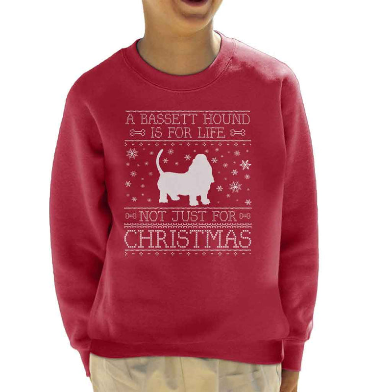 A Bassett Hound Is For Life Not Just For Christmas Kid's Sweatshirt - coto7