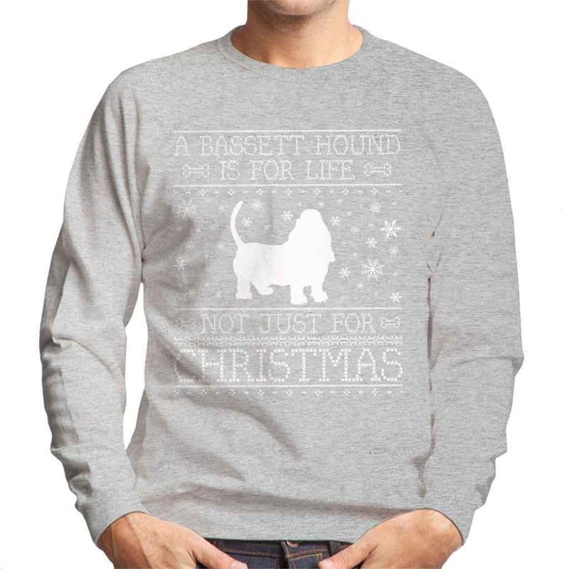 A Bassett Hound Is For Life Not Just For Christmas Men's Sweatshirt - coto7