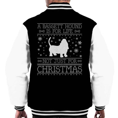 A Bassett Hound Is For Life Not Just For Christmas Men's Varsity Jacket - coto7