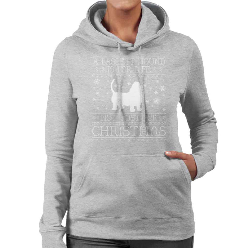A Bassett Hound Is For Life Not Just For Christmas Women's Hooded Sweatshirt - coto7