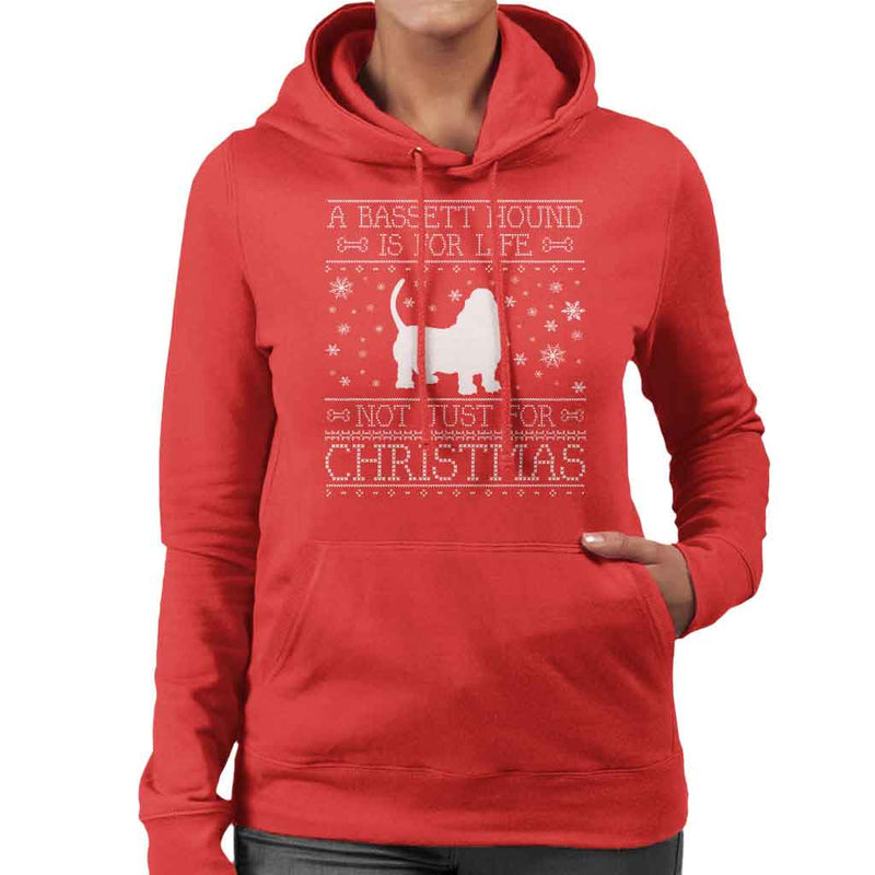 A Bassett Hound Is For Life Not Just For Christmas Women's Hooded Sweatshirt
