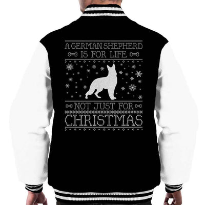 A German Shepherd Is For Life Not Just For Christmas Men's Varsity Jacket - coto7