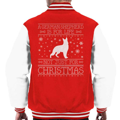 A German Shepherd Is For Life Not Just For Christmas Men's Varsity Jacket