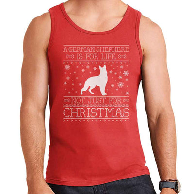 A German Shepherd Is For Life Not Just For Christmas Men's Vest