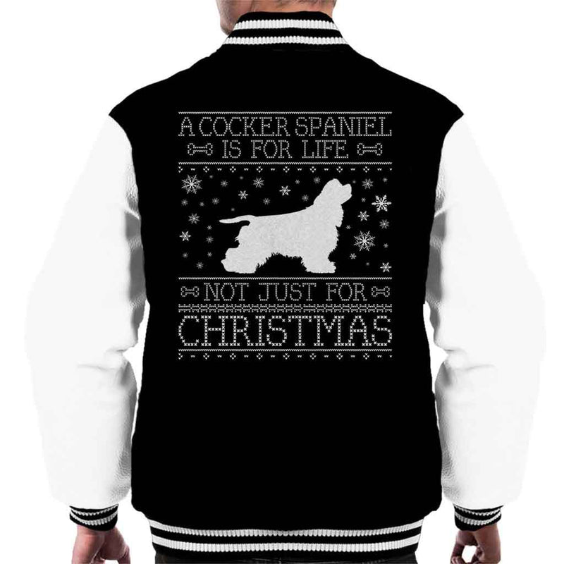 A Cocker Spaniel Is For Life Not Just For Christmas Men's Varsity Jacket - coto7