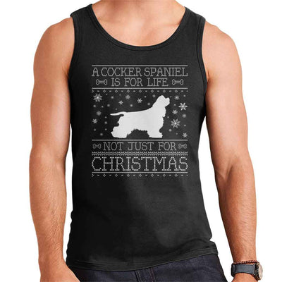 A Cocker Spaniel Is For Life Not Just For Christmas Men's Vest - coto7