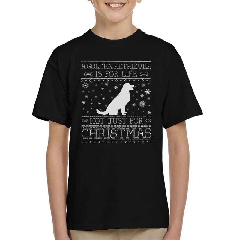 A Golden Retriever Is For Life Not Just For Christmas Kid's T-Shirt - coto7